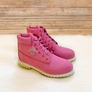 "Timberland Pink 6"" Waterproof Premium Boots"